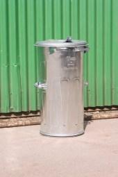Popelová nádoba pozinkovaná o objemu 110 litrů